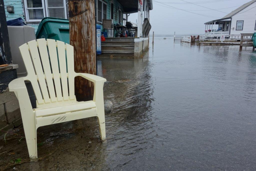 High tide flooding in Hampton, NH