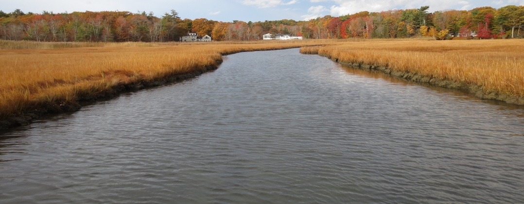 Philbrick Pond and salt marsh in North Hampton NH