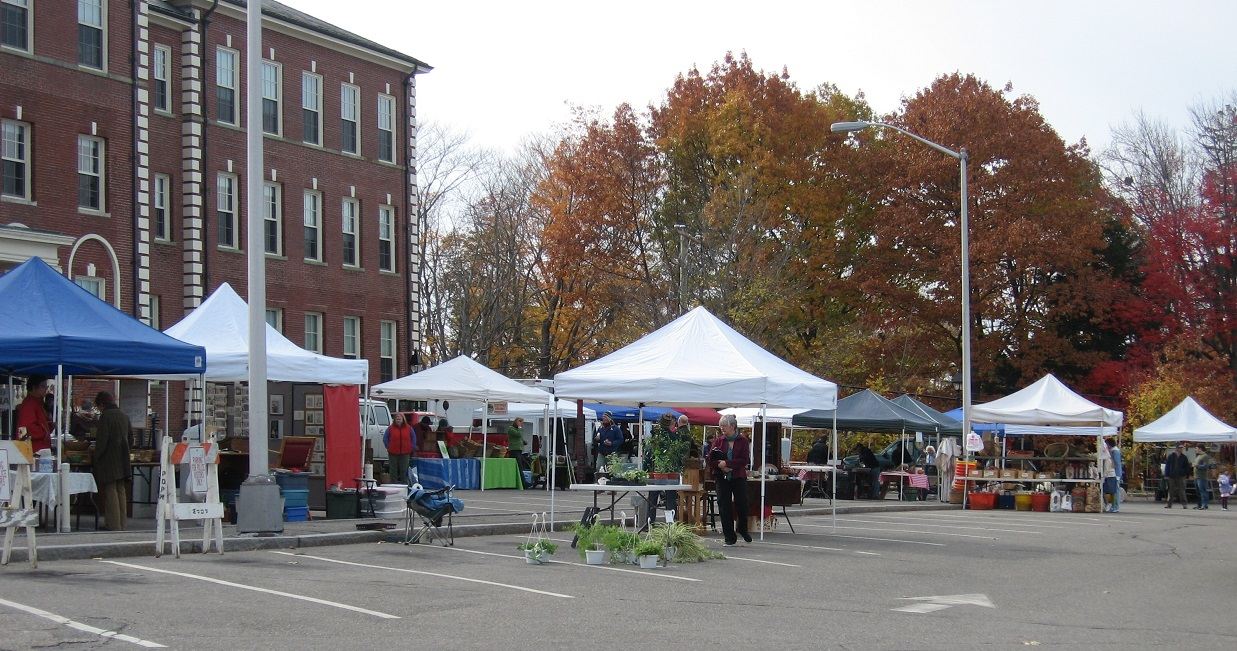Local businesses sell their goods at the Portsmouth Farmer's Market