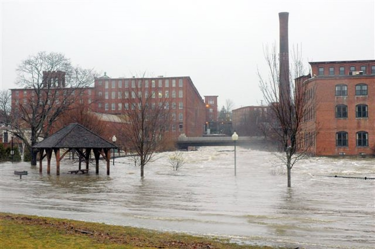 flooding in downtown Dover, New Hampshire