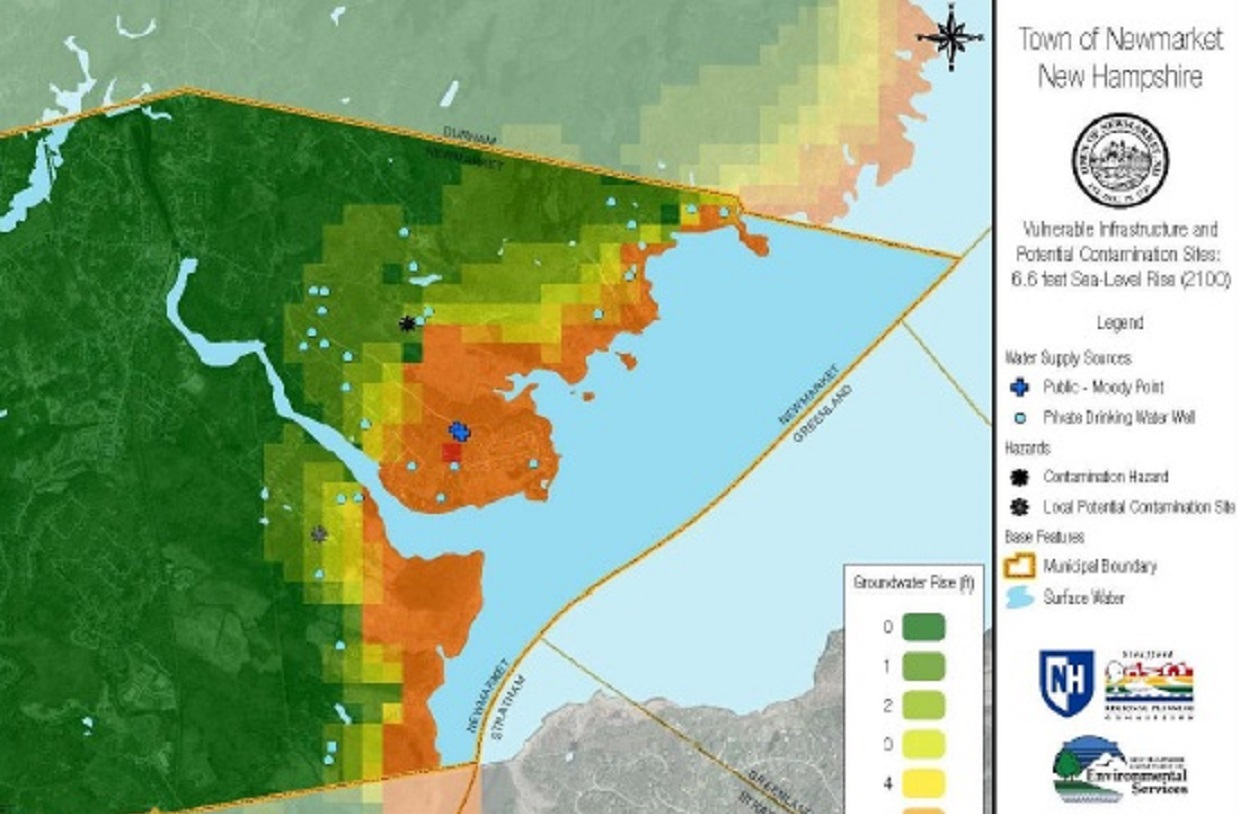 Groundwater rise modeling in Newmarket NH