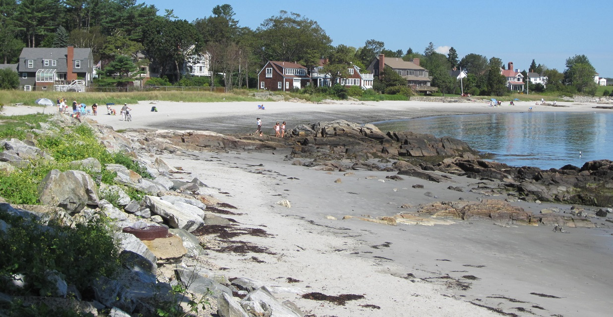 Town beach in New Castle, NH