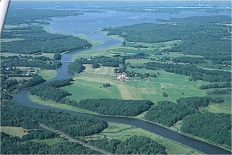 Aerial view of Stuart Farm in Stratham, NH