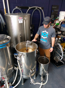 Brewing at the UNH Brewing Science Laboratory. Photo: Cheryl Parker