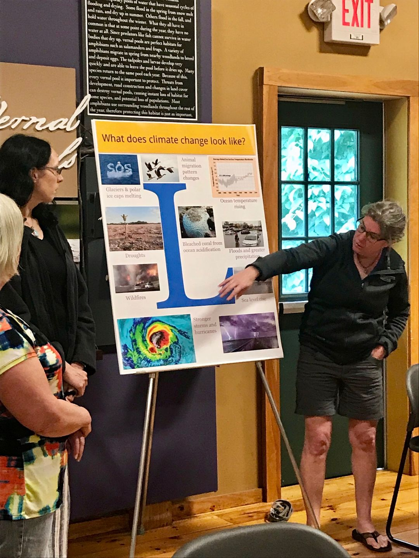 Teachers present climate posters