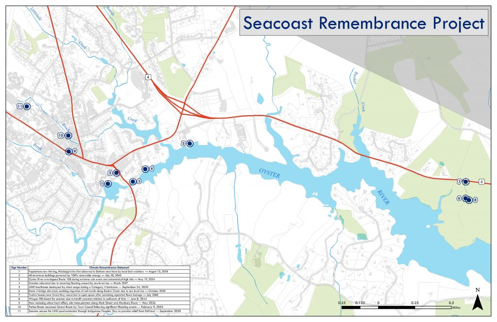 Seacoast Remembrance Project: Durham marker map (Strafford Regional Planning Commission
