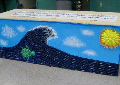 Green club art project, Climate in the Classroom - Sunapee 6th grade, 2020