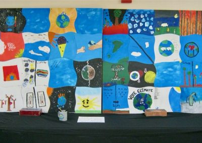 Climate art project, Climate in the Classroom - Sunapee 6th grade, 2020