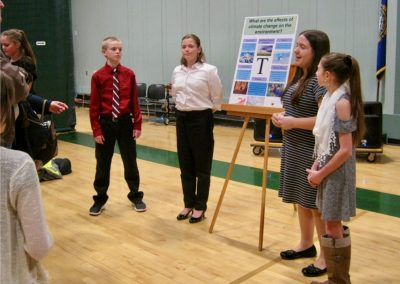 Students present climate posters, Climate in the Classroom - Sunapee 6th grade, 2020