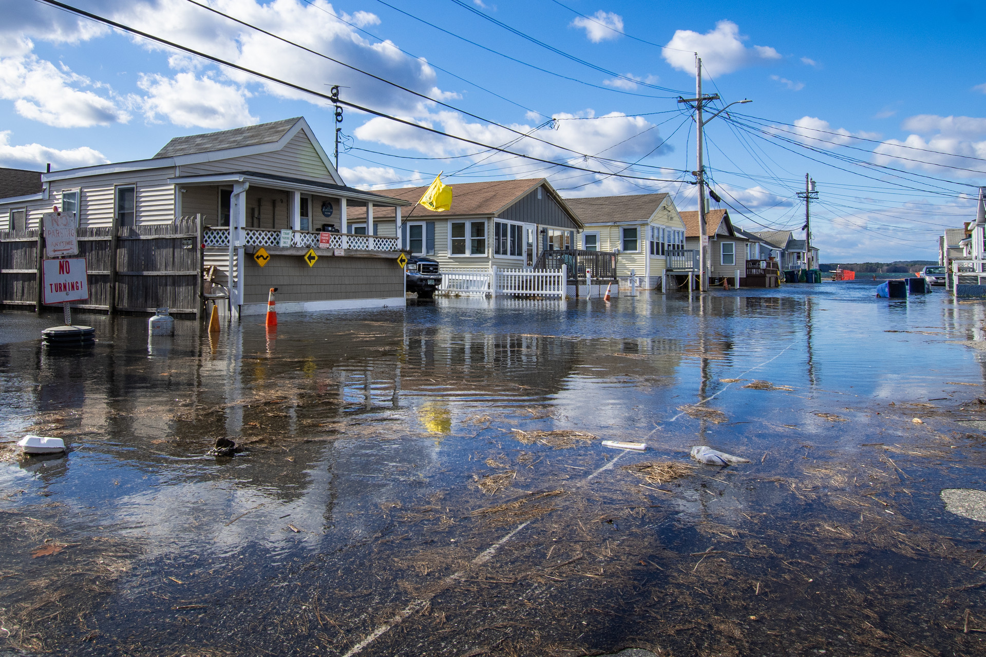 High Tide November 16, 2020 on the Marsh Side of Hampton Beach. Credit: Marie Sapienza