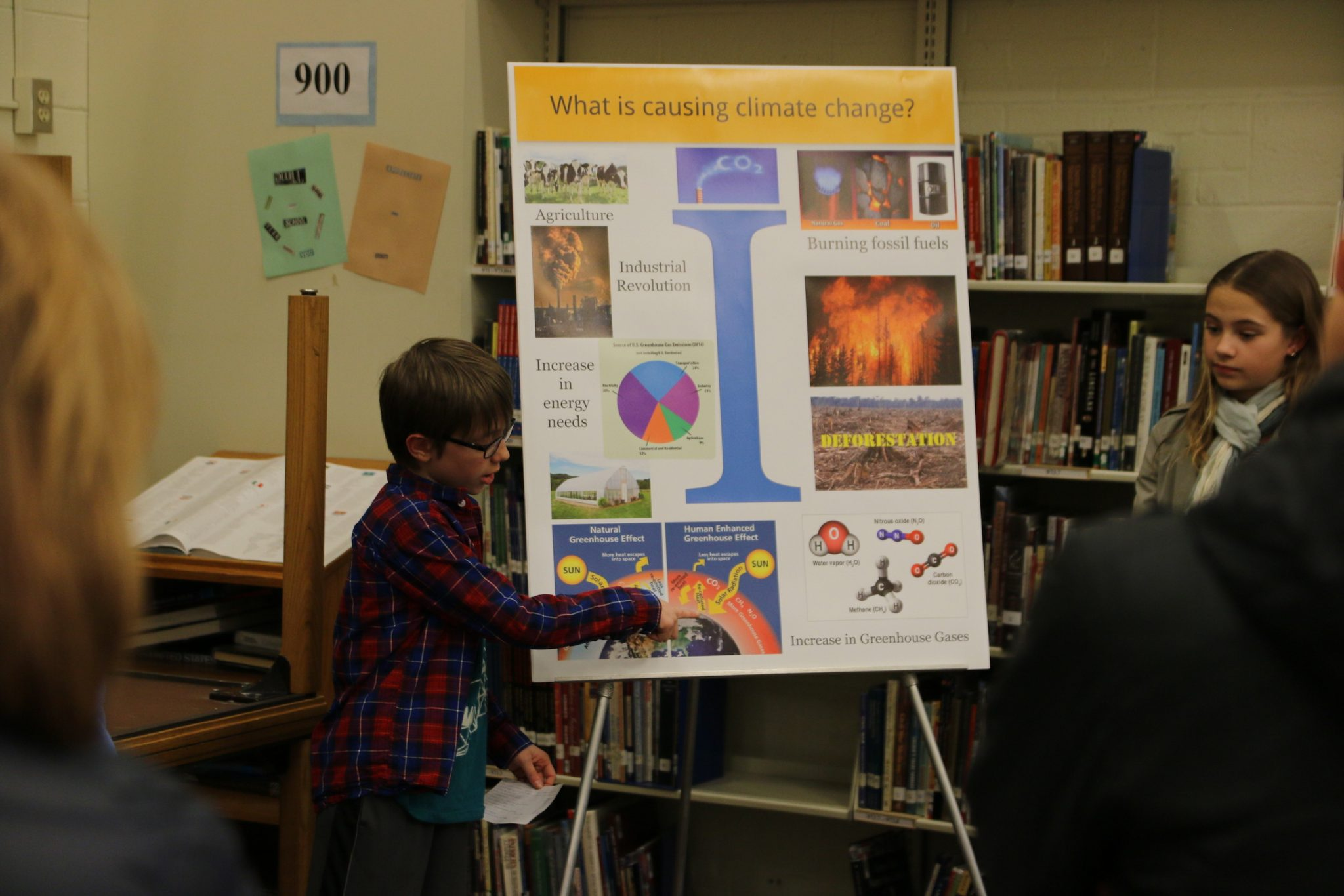 Climate in the Classroom, students present poster